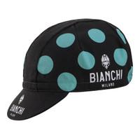 Bianchi Milano Polka Dot Black Green Cap