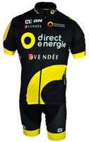 2017 Direct Energie Full Zipper Jersey