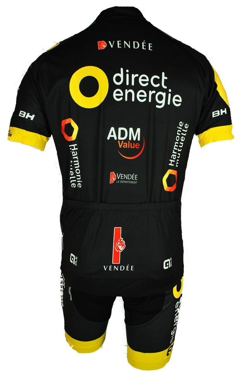 2017 Direct Energie Full Zipper Jersey Rear