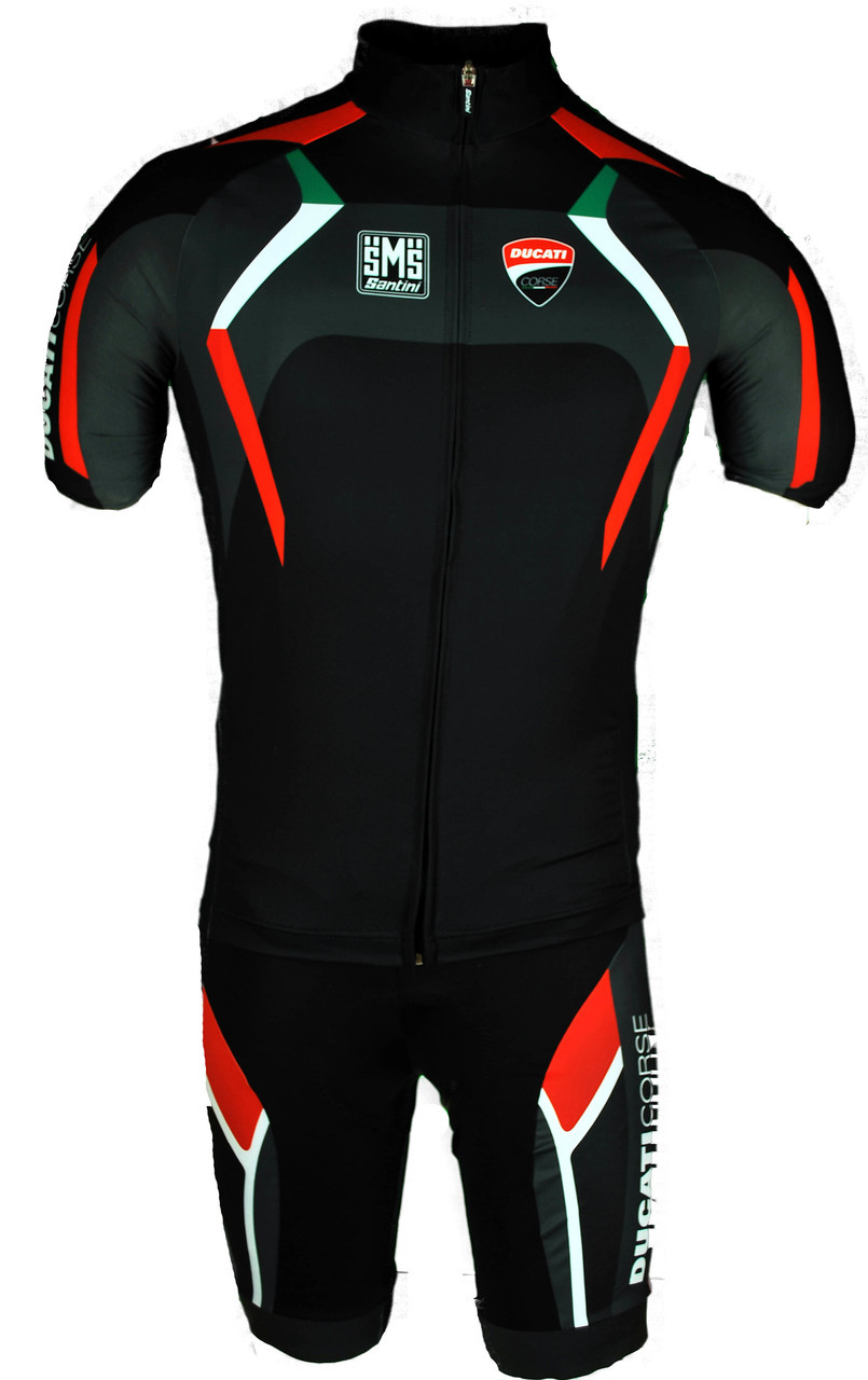 2017 Ducati Full Zipper Body Fit Jersey Front