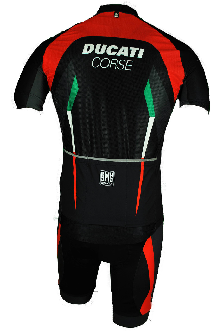 2017 Ducati Full Zipper Body Fit Jersey Back