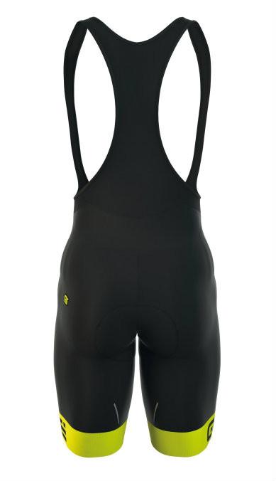 ALE Excel GT 2H Shammy Yellow Bib Shorts Rear