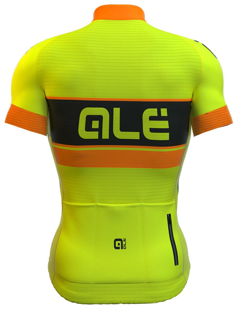 ALE Bermuda Yellow Fluorescent Jersey Rear