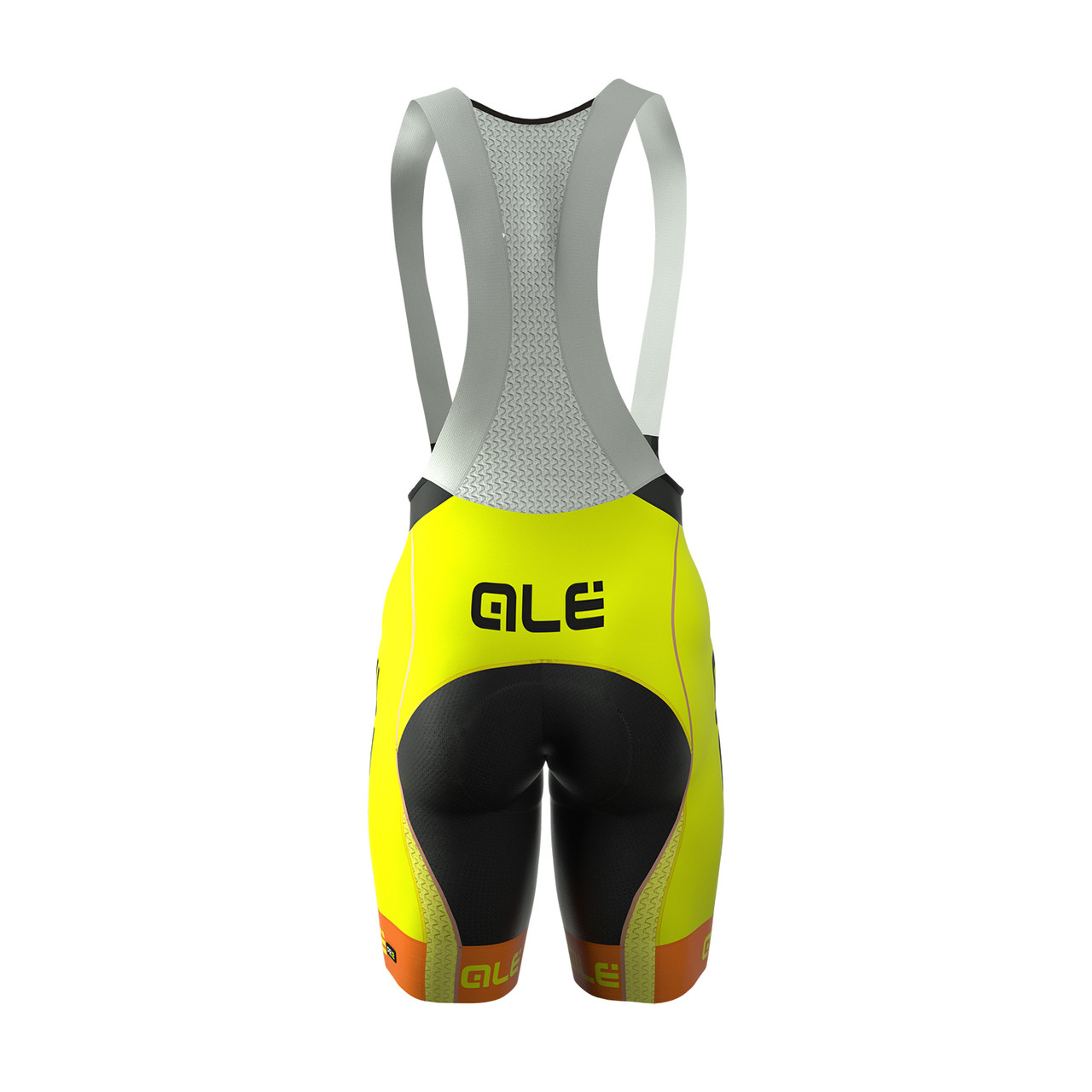 ALE Bermuda Yellow Fluorescent Bib Shorts Rear