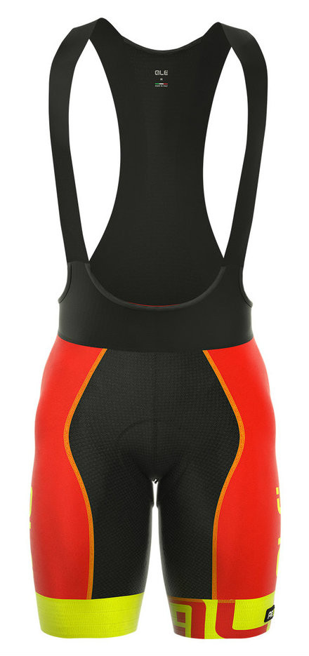 ALE Arcobaleno Red Yellow Bib Shorts
