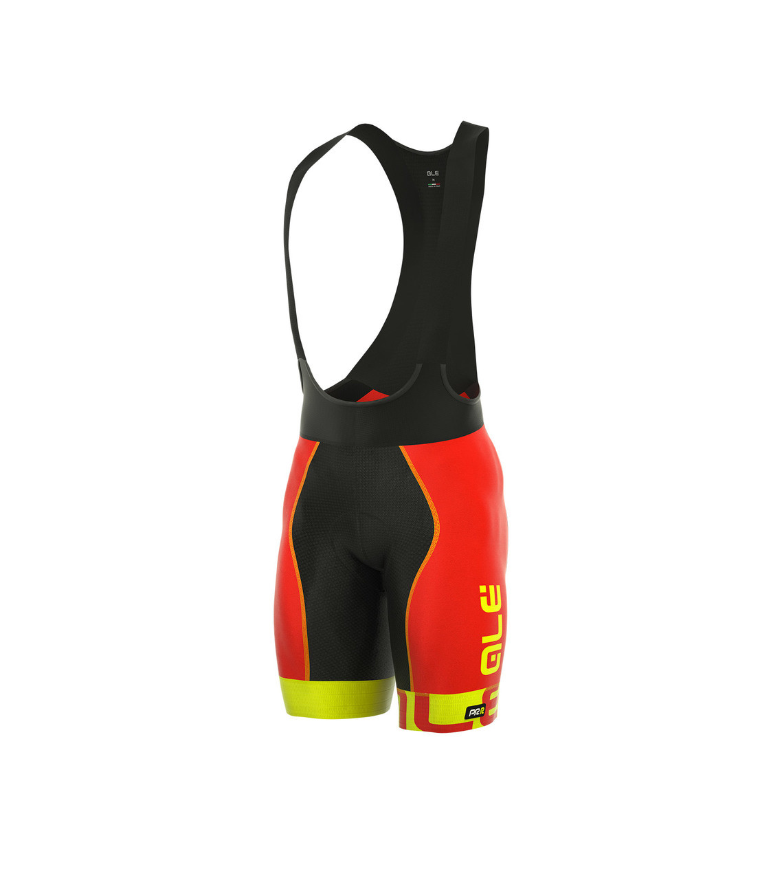 ALE Arcobaleno Red Yellow Bib Shorts Side