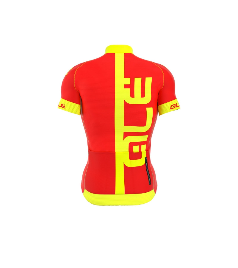 ALE Arcobaleno Red Yellow Jersey Rear