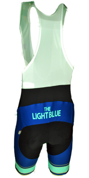 The Light Blue Retro Bib Shorts Rear