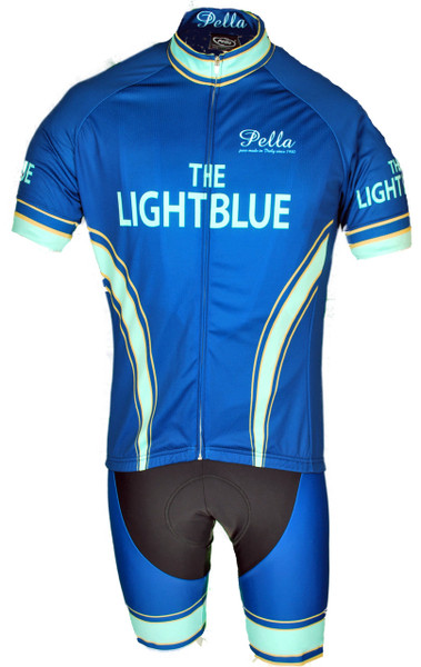The Light Blue Retro Full Zipper  Jersey