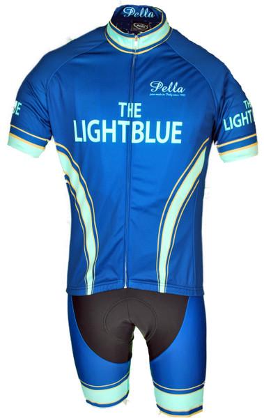 The Light Blue Retro Full Zipper  Jersey