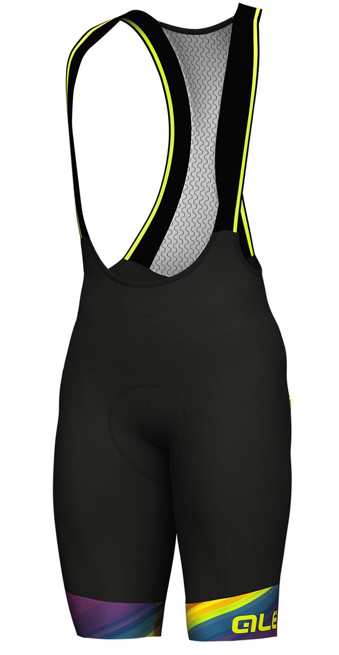 ALE Multicolor Black Bib Shorts