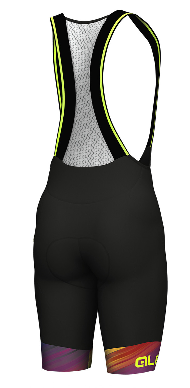 ALE Multicolor Black Bib Shorts Rear