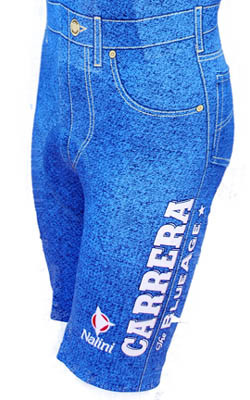 Carrera Retro Bib Shorts Close Up View