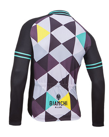 Bianchi Milano Leggenda1 Triangle Long Sleeve Jersey Rear