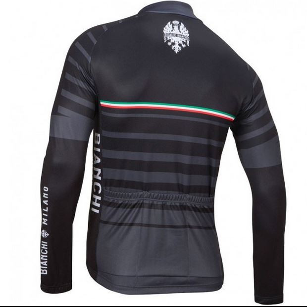 Bianchi Milano Succiso Long Sleeve Jersey Rear