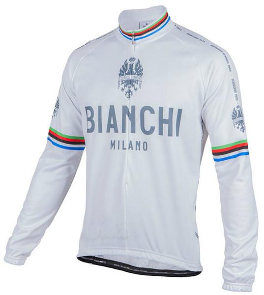 Bianchi Milano Leggenda Classic White Long Sleeve Jersey