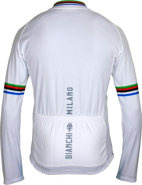 Bianchi Milano Leggenda Classic White Long Sleeve Jersey Rear