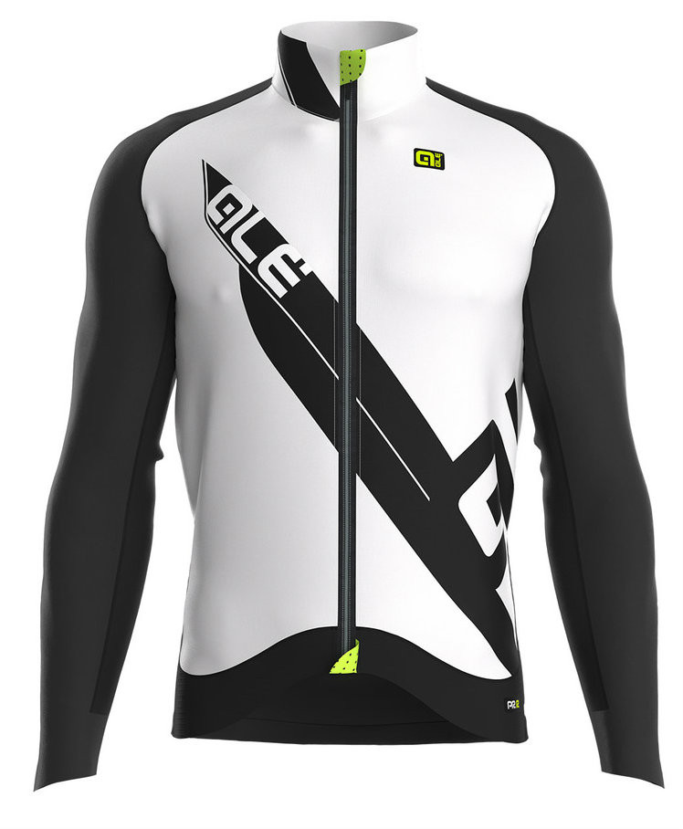 ALE Clima PRR Clima Protection Thermal White Long Sleeve Jersey