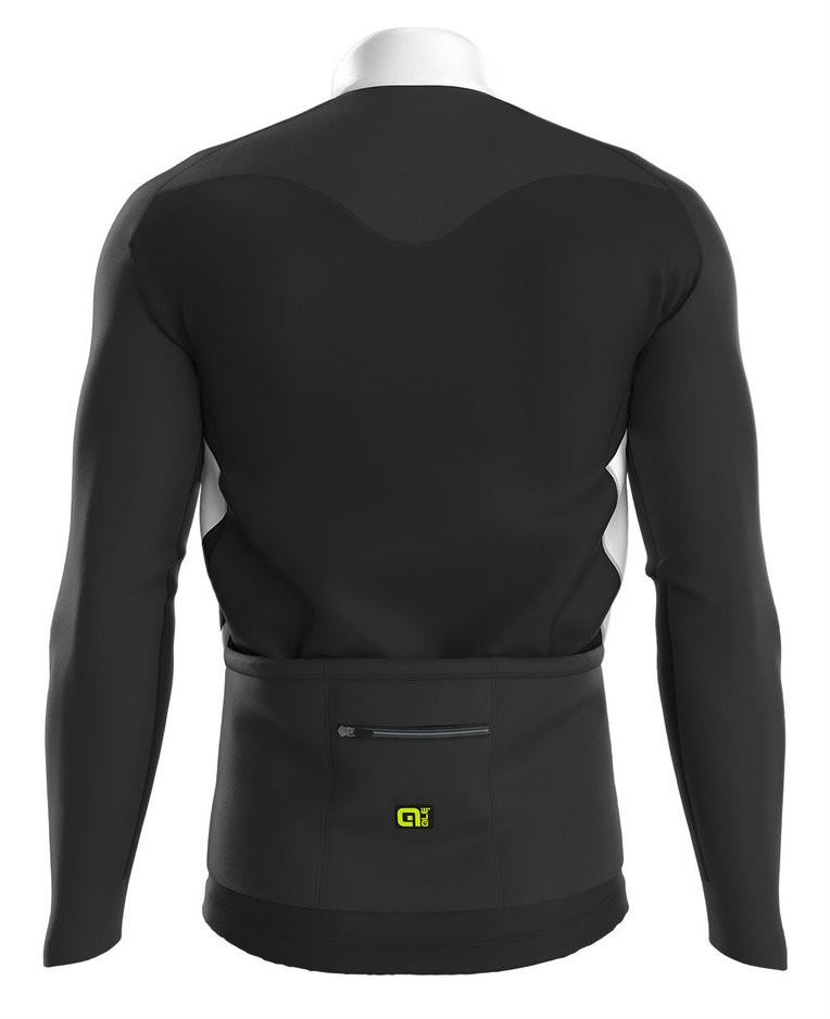 ALE Clima PRR Clima Protection Thermal White Long Sleeve Jersey Rear