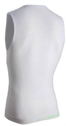 Nalini Air Base Layer White Tank Rear