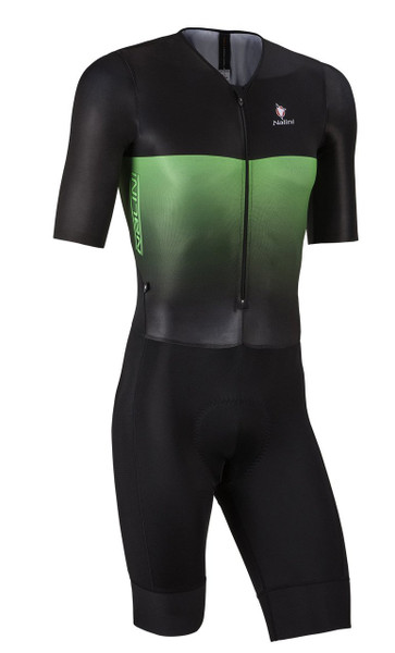 Nalini XBlack Black Green Body Skinsuit
