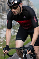 Nalini XBlack Black Red Body Skinsuit Rider
