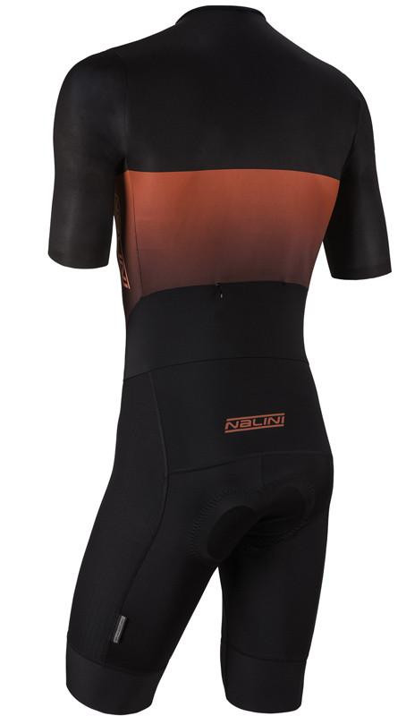 Nalini XBlack Black Red Body Skinsuit Rear