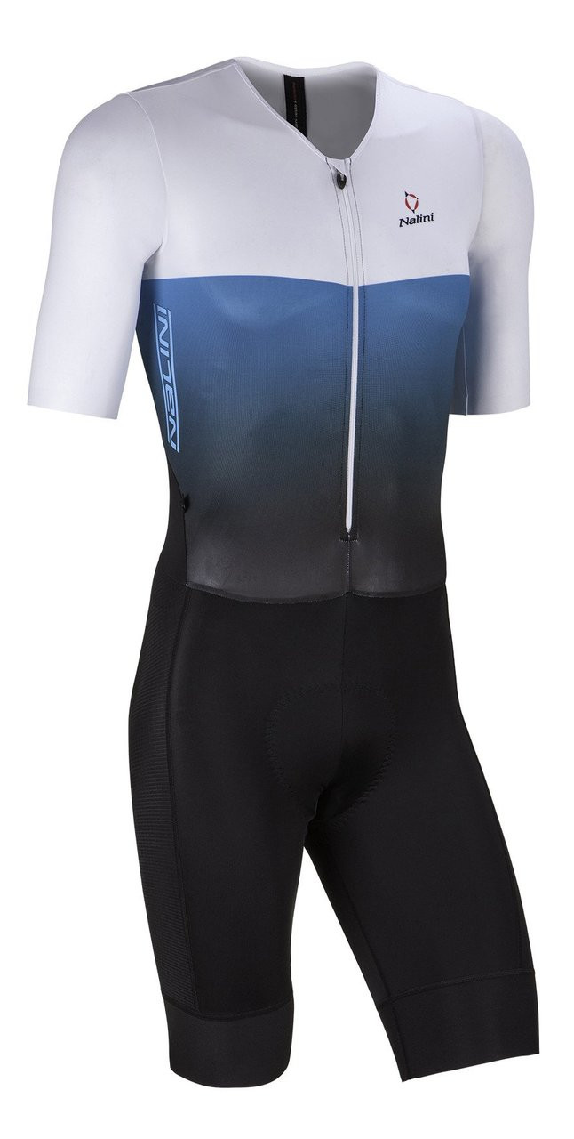 Nalini XBlack White Blue Body Skinsuit