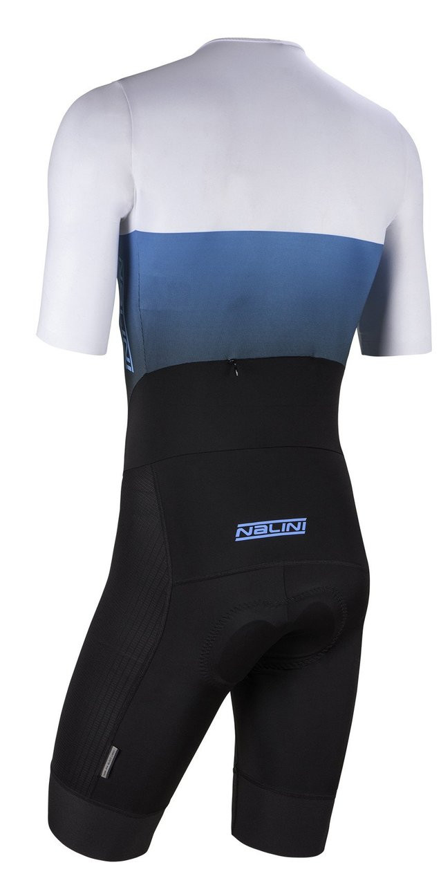Nalini XBlack White Blue Body Skinsuit Rear