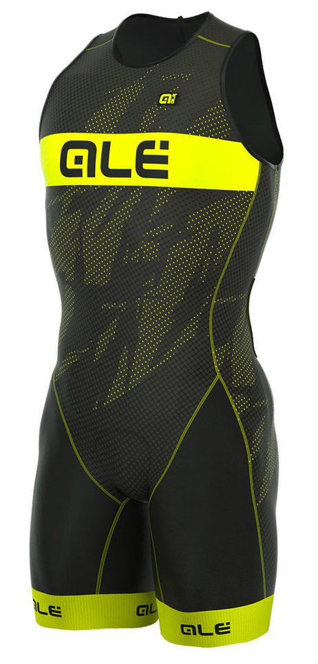 ALE' Triathlon Record Men Olympic Back Zipper Skin Suit