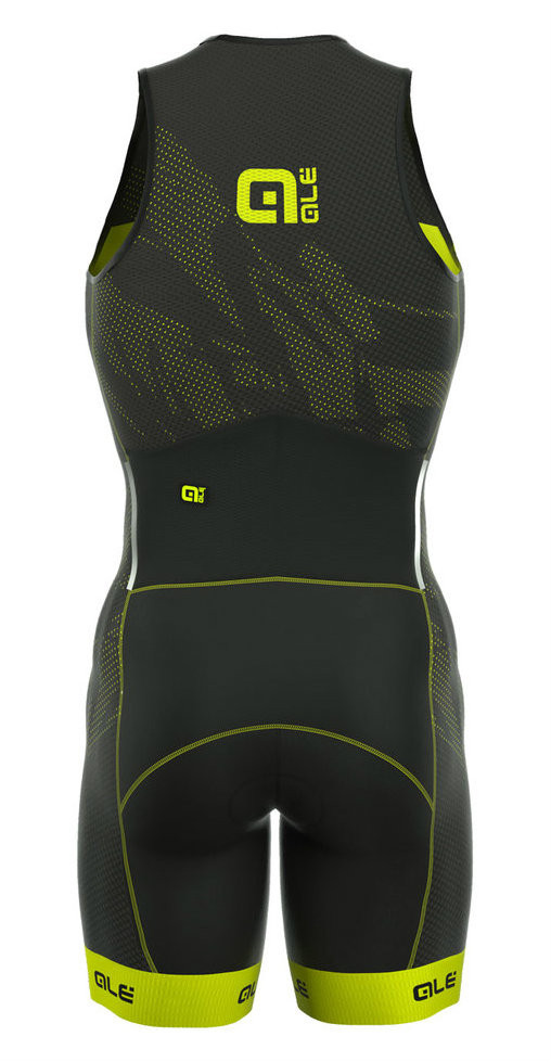 ALE' Triathlon Record Men Olympic Back Zipper Skin Suit Rear