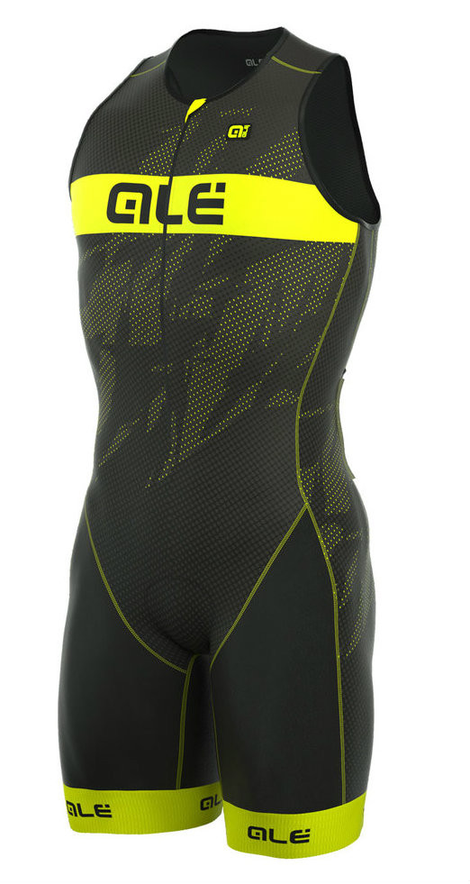 ALE' TRIATHLON RECORD MEN LONG TRI FRONT ZIP SKINSUIT
