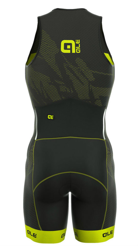 ALE' TRIATHLON RECORD MEN LONG TRI FRONT ZIP SKINSUIT REAR