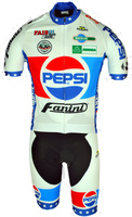 Pepsi Cola Fanini Full Zipper Retro Jersey