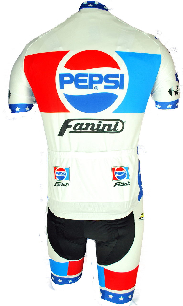 Pepsi Cola Fanini Full Zipper Retro Jersey Rear
