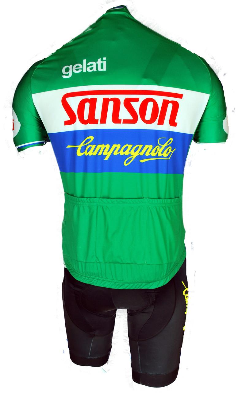 Gelati Sanson Campagnolo Full Zipper Retro Jersey Rear