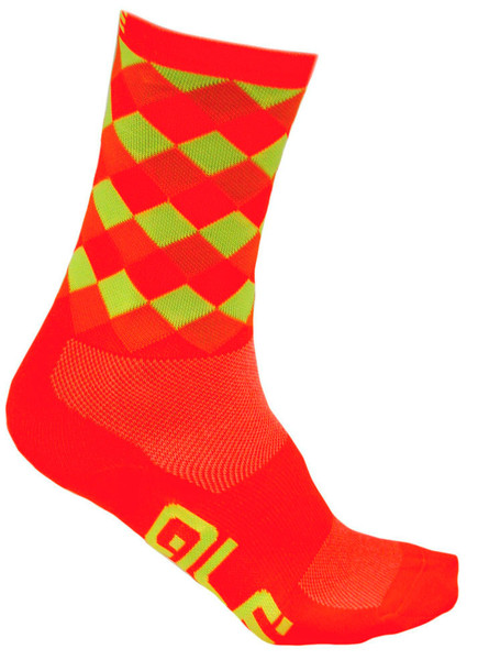 ALE QSkin Summer 6 Inch 16 CM High Rumbles Yellow Fluo Black Socks