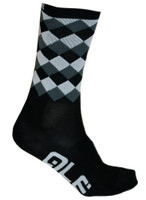 ALE QSkin Summer 6 Inch 16 CM High Rumbles Black Socks