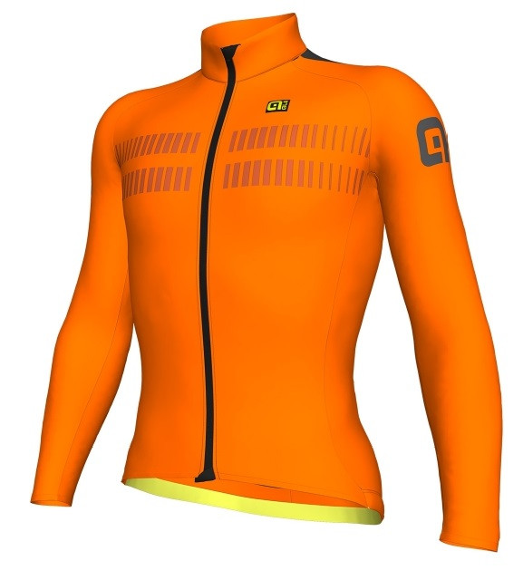ALE Warm Air R-EV1 2.0 Orange Fluo Long Sleeve Jersey