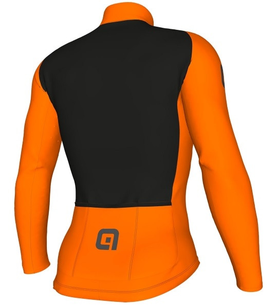 ALE Warm Air R-EV1 2.0 Orange Fluo Long Sleeve Jersey Rear