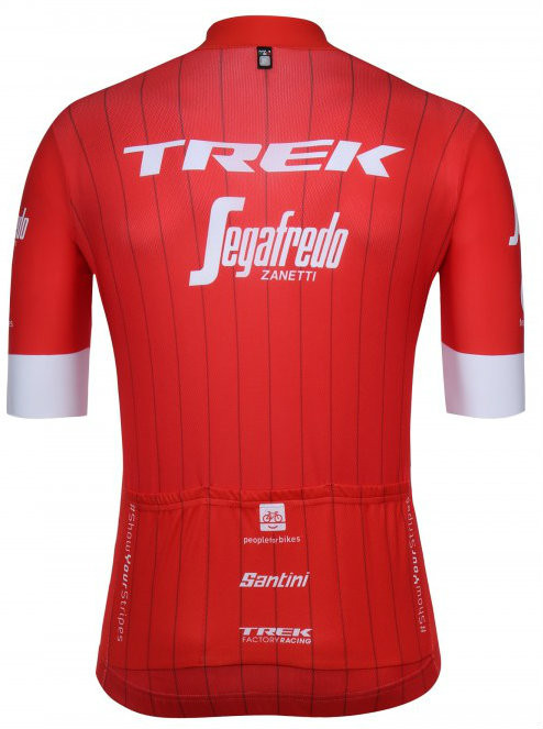 2018 Trek Segafredo Red Jersey Rear