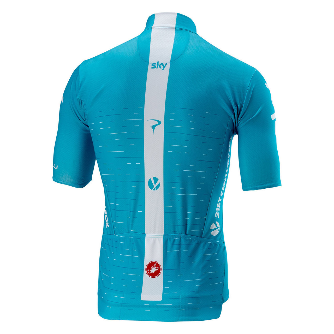 2018 Sky Blue Podio Full Zip Jersey Rear