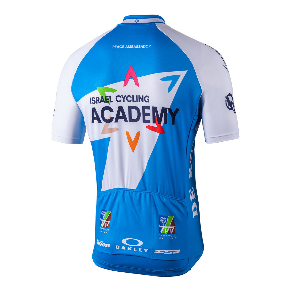... 2018 Israel Cycling Academy Full Zip Jersey Rear 39ba146ce