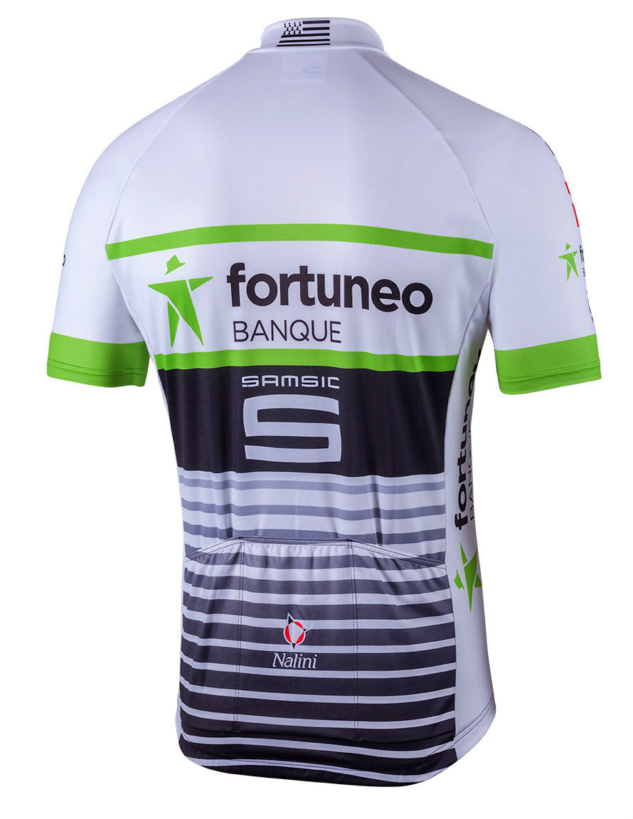2018 Fortuneo Full Zip Jersey Rear
