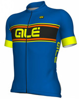 ALE' Vetta Solid Blue Yellow Jersey