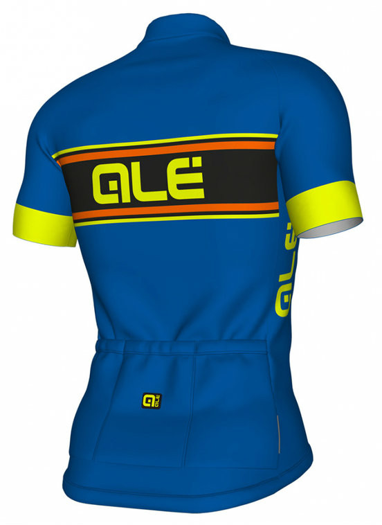 ALE' Vetta Solid Blue Yellow Jersey Rear