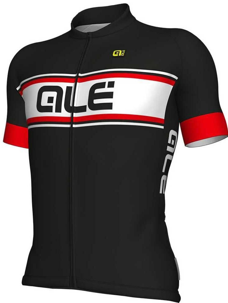 ALE Vetta Solid Black Red Jersey