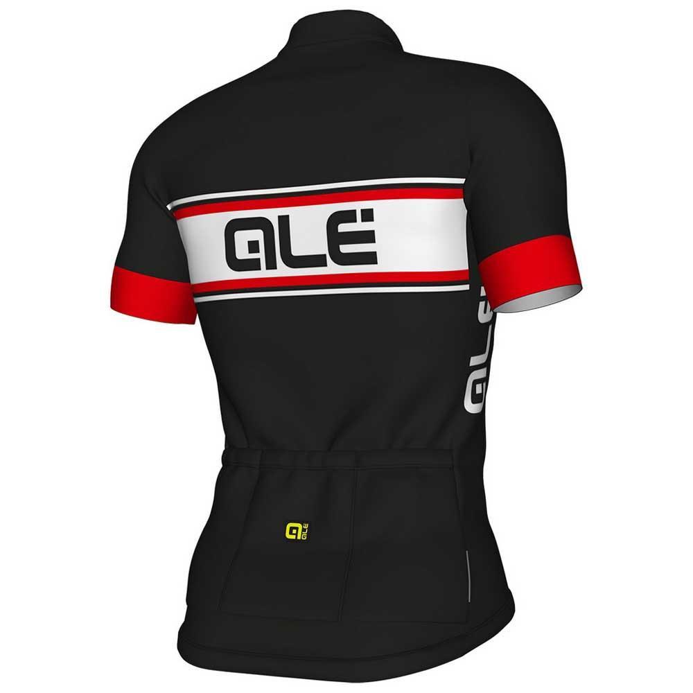 ALE Vetta Solid Black Red Jersey Rear