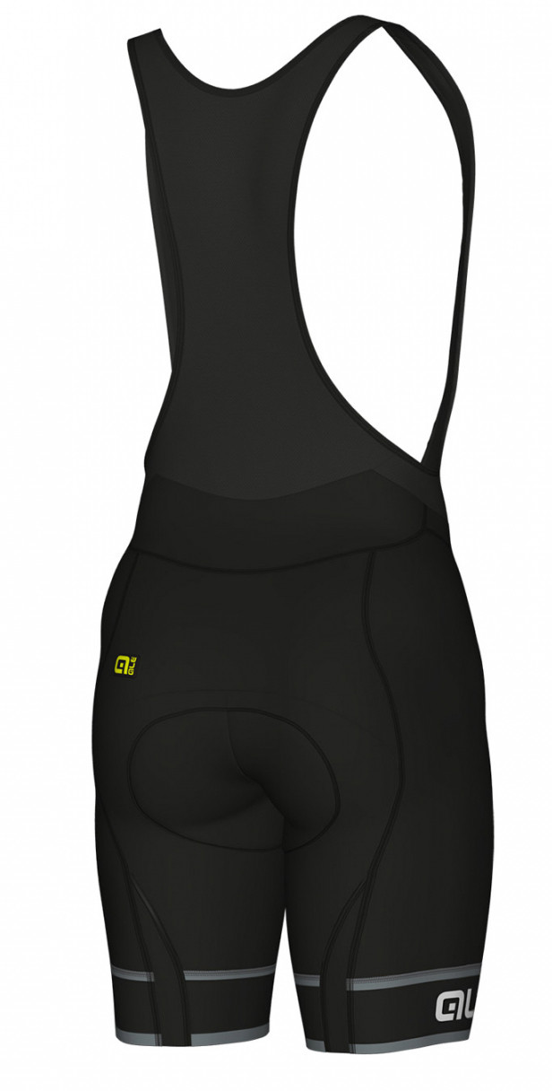 ALE' Sella PRR Black Bib Shorts Rear