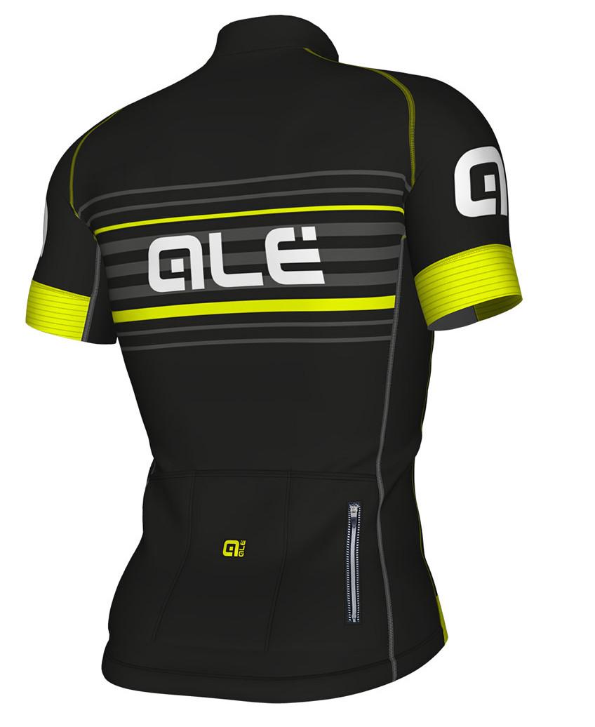 ALE' Salita PRR Black Yellow Jersey Rear